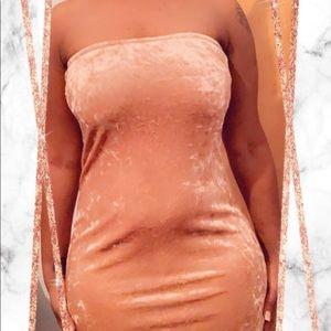 Sued Fashion Nova Dress